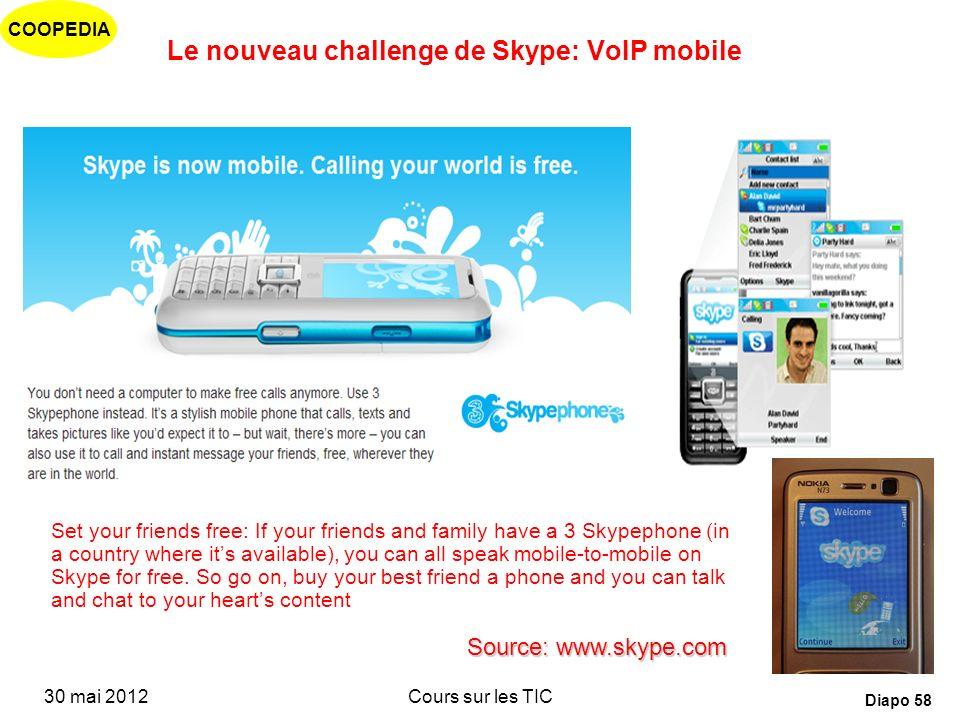 Le nouveau challenge de Skype: VoIP mobile