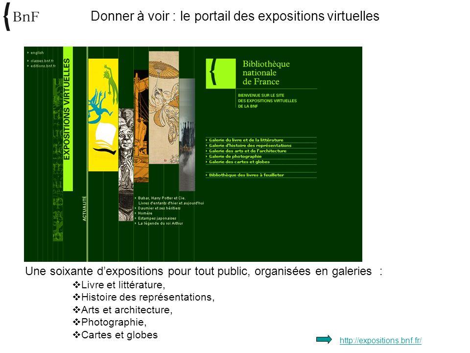 Donner à voir : le portail des expositions virtuelles