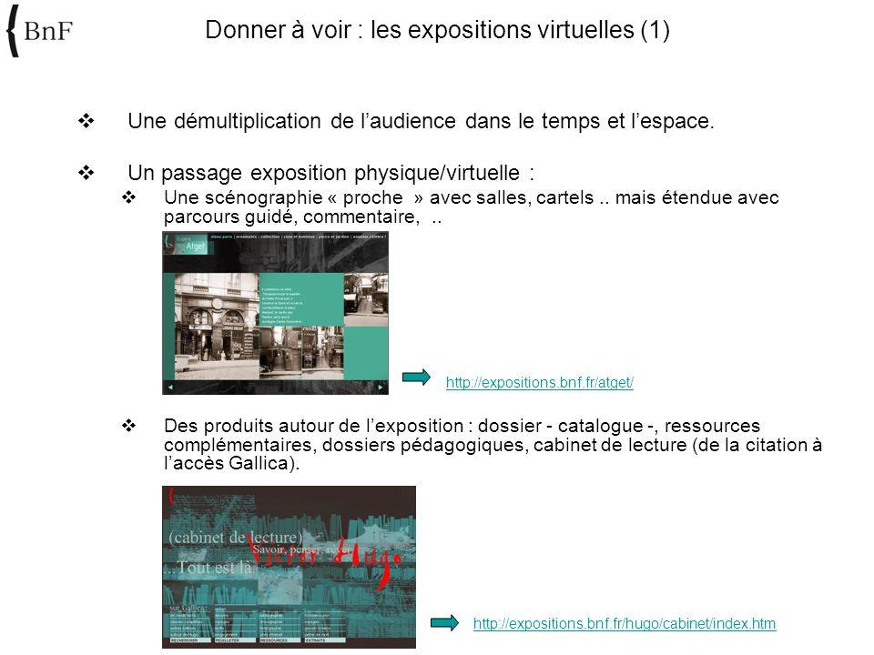 Donner à voir : les expositions virtuelles (1)