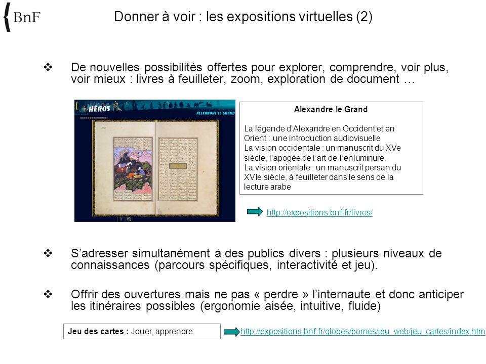 Donner à voir : les expositions virtuelles (2)
