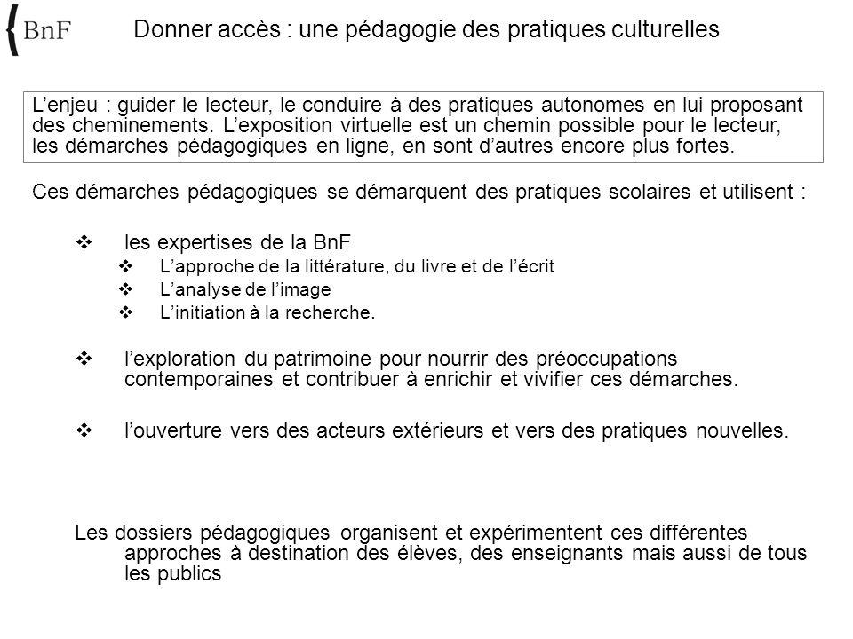 Donner accès : une pédagogie des pratiques culturelles