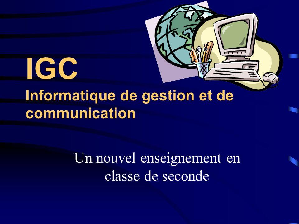 IGC Informatique de gestion et de communication