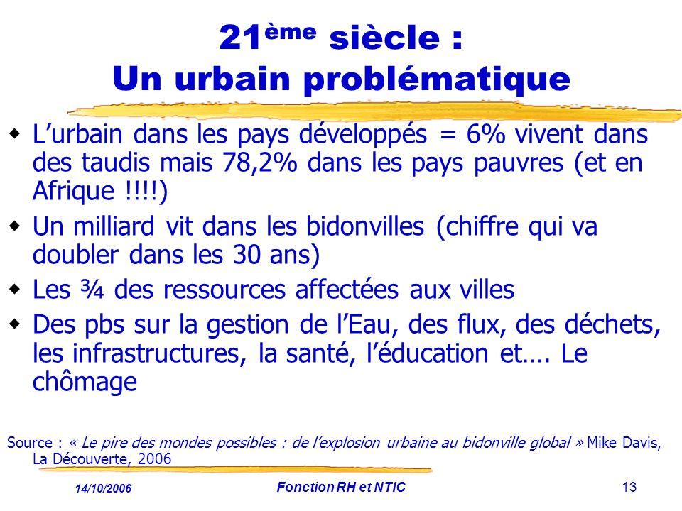 21ème siècle : Un urbain problématique