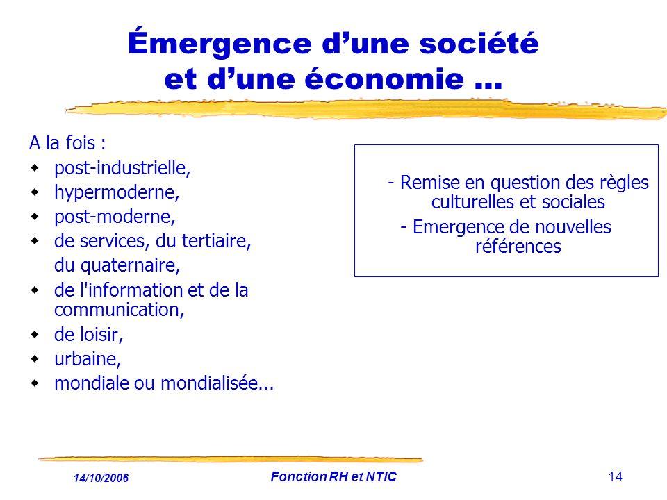 Émergence d'une société et d'une économie ...