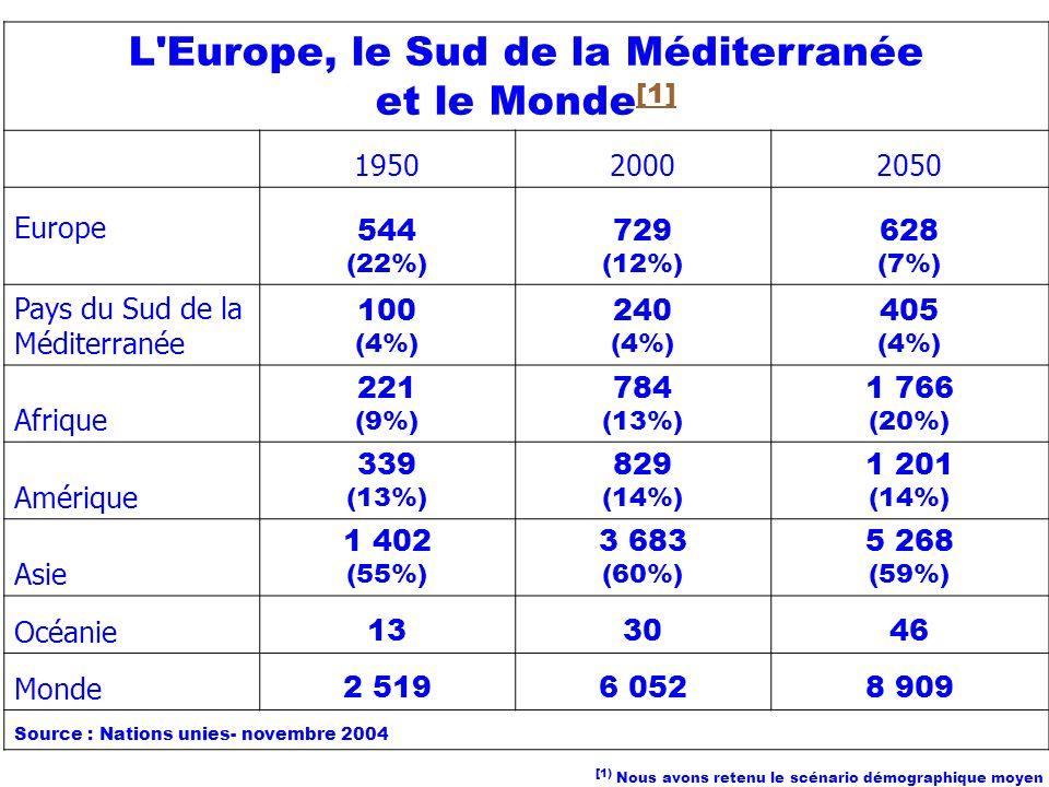 L Europe, le Sud de la Méditerranée