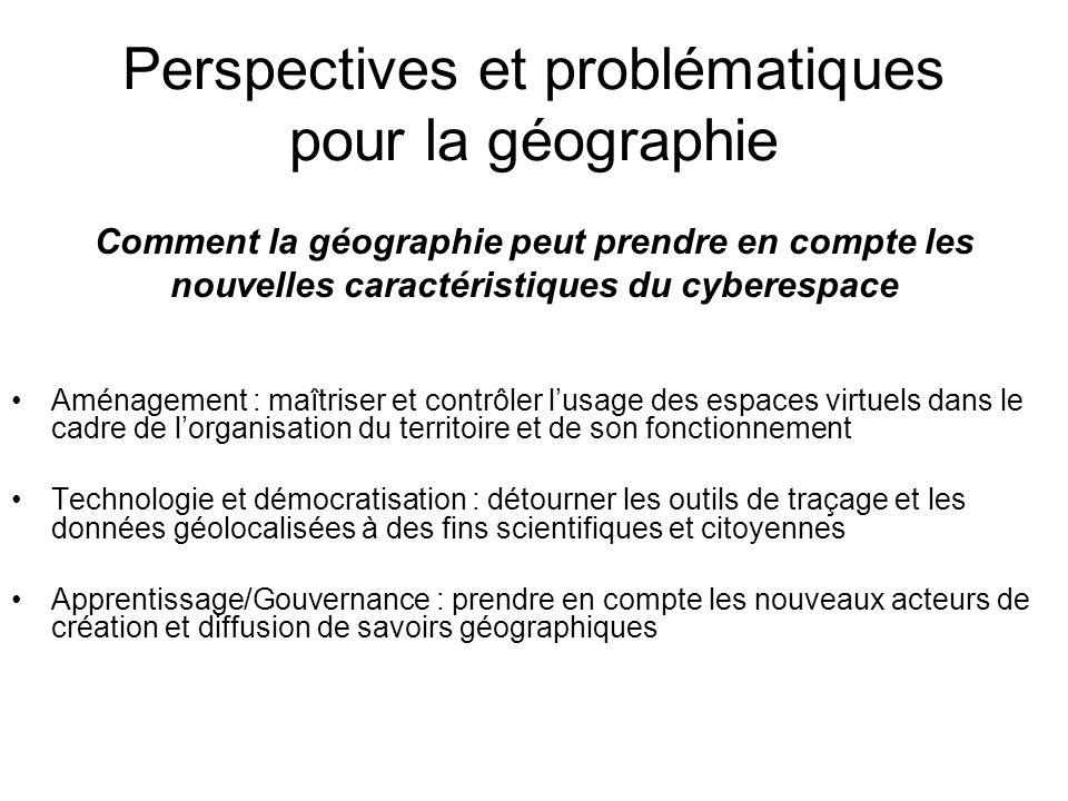Perspectives et problématiques pour la géographie