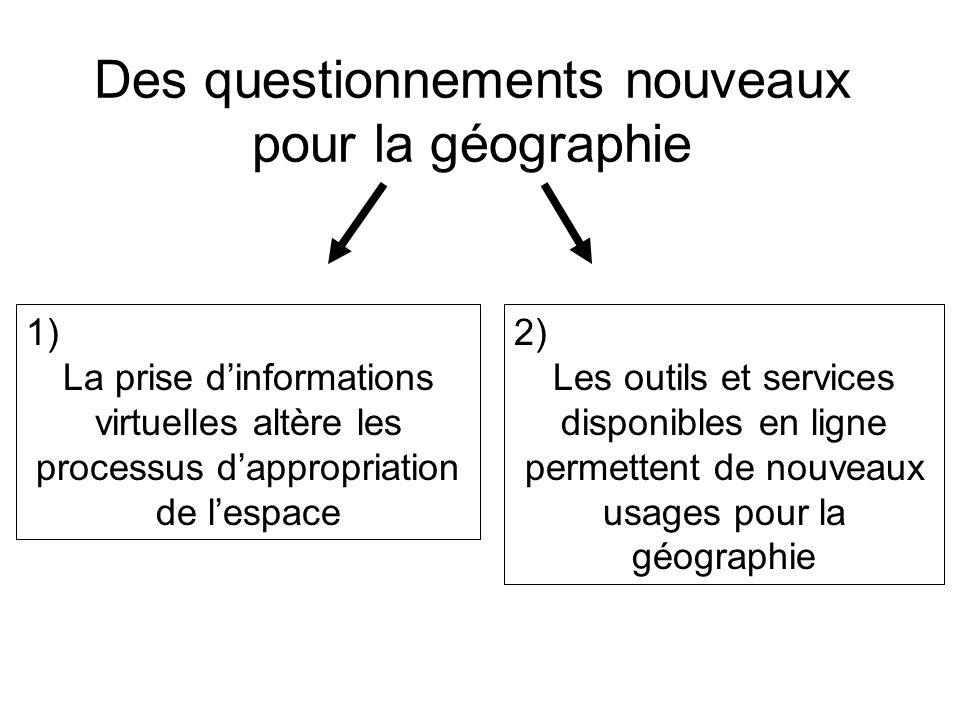 Des questionnements nouveaux pour la géographie