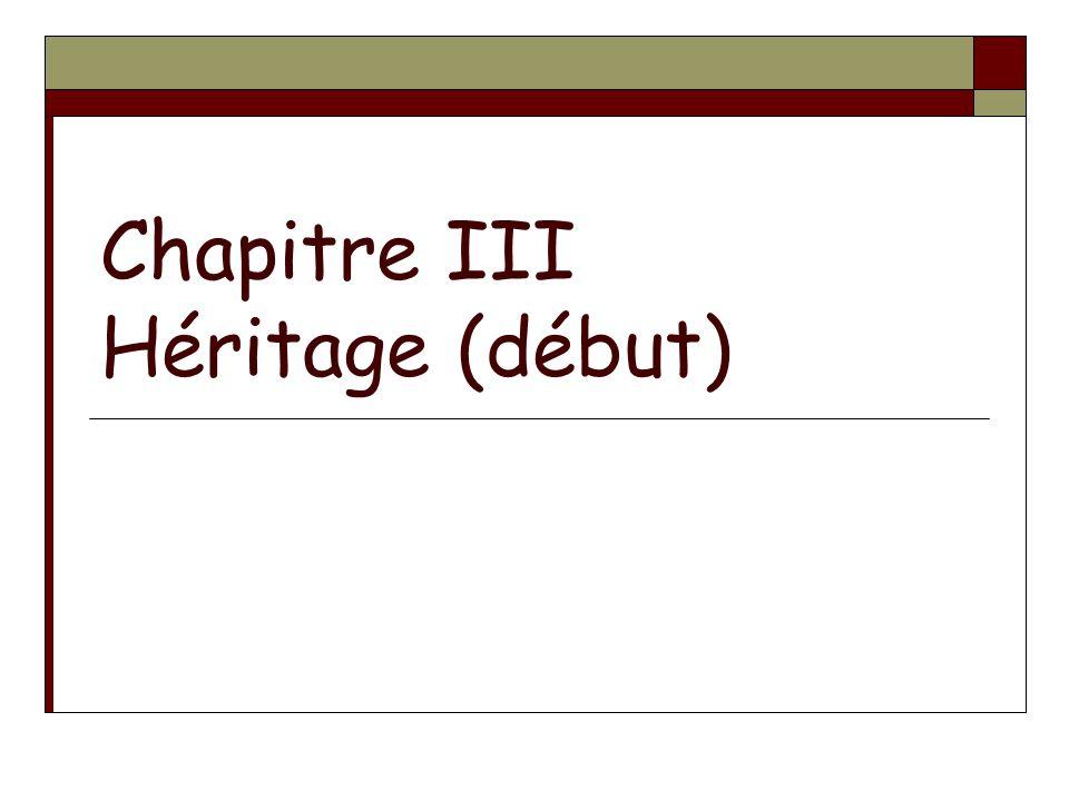 Chapitre III Héritage (début)