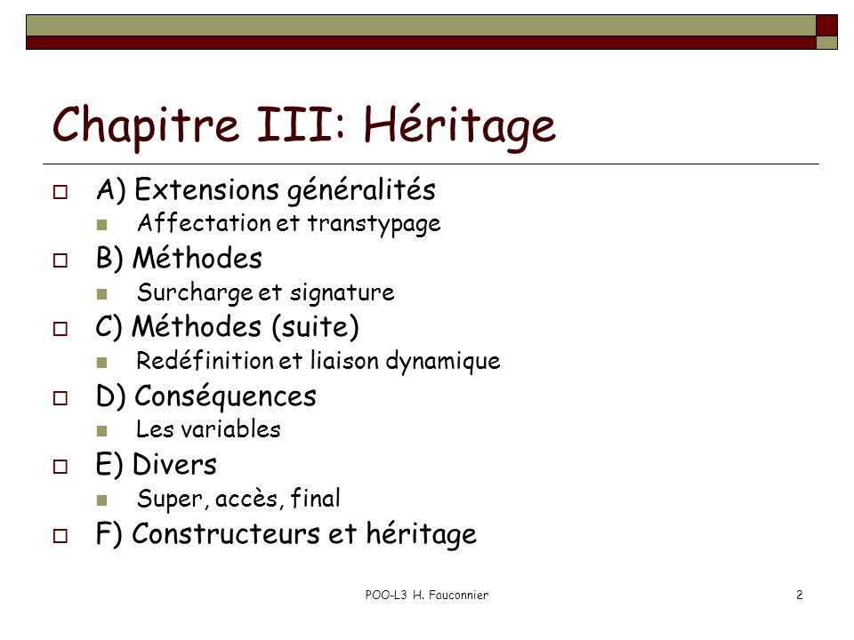 Chapitre III: Héritage