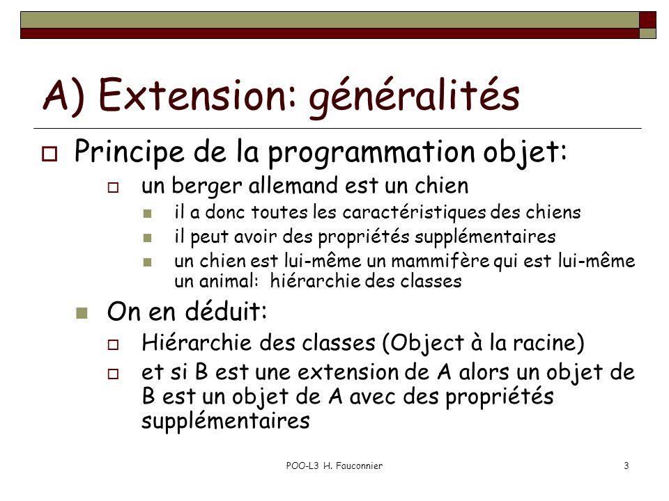 A) Extension: généralités