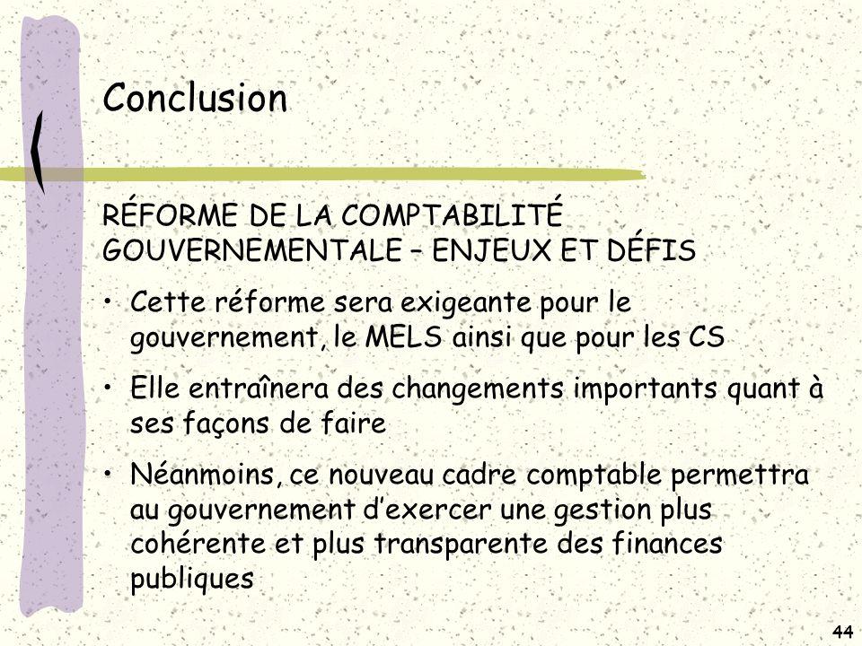 Conclusion ENJEUX ET DÉFIS