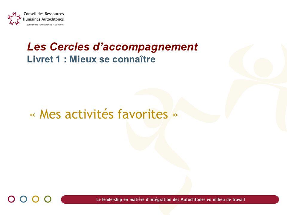 « Mes activités favorites »