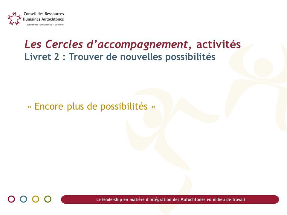 Les Cercles d'accompagnement, activités Livret 2 : Trouver de nouvelles possibilités