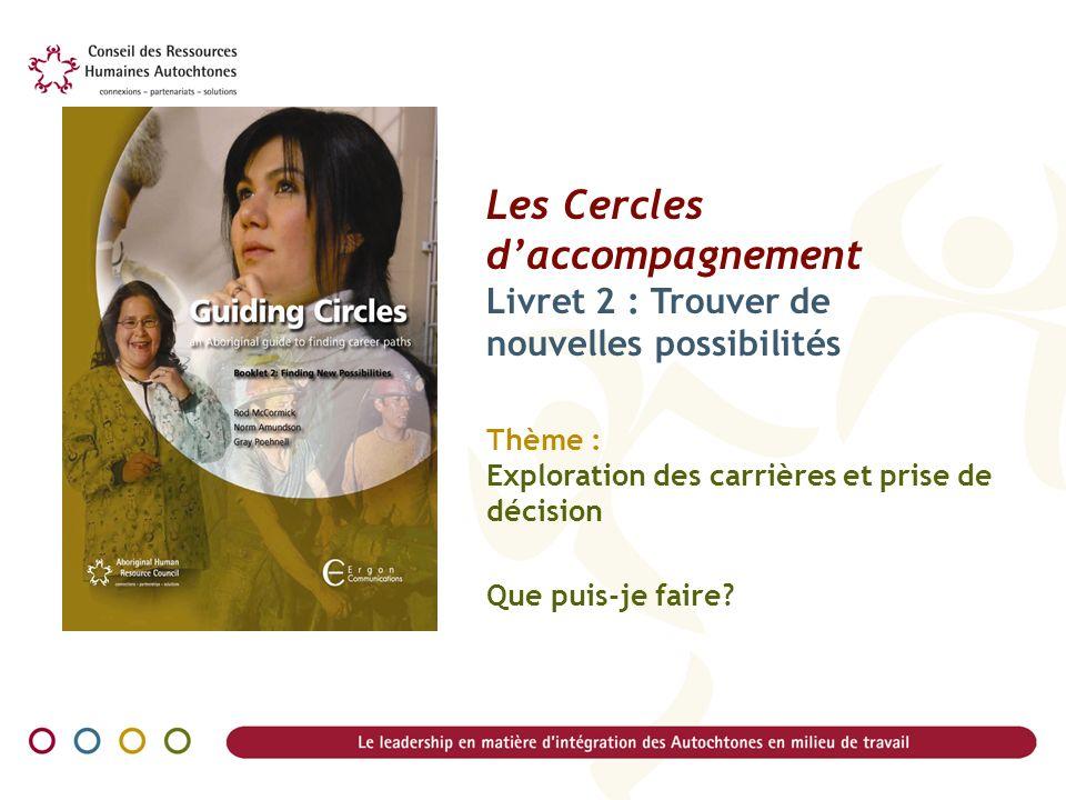 Les Cercles d'accompagnement Livret 2 : Trouver de nouvelles possibilités Thème : Exploration des carrières et prise de décision