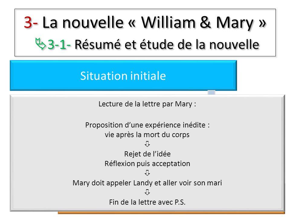 3- La nouvelle « William & Mary » 3-1- Résumé et étude de la nouvelle