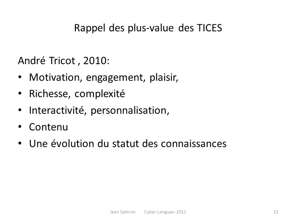 TICE outils - CREPUQ - Québec, 2008