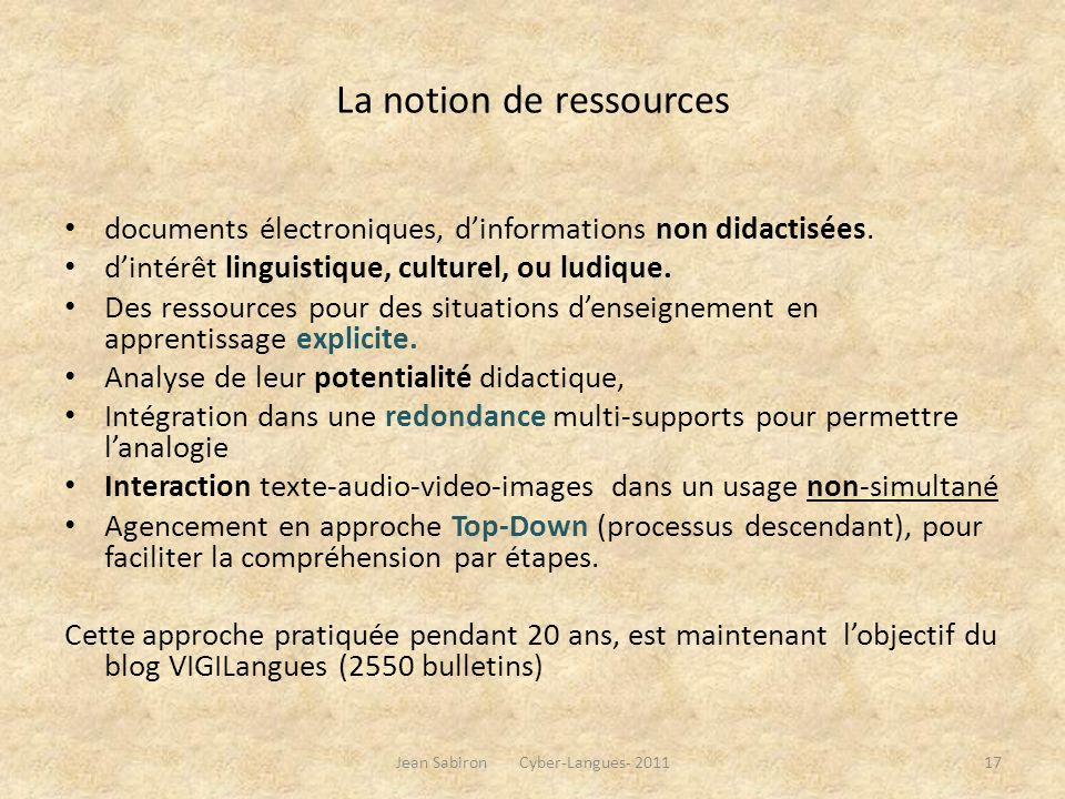 Ressource(s), au sens large