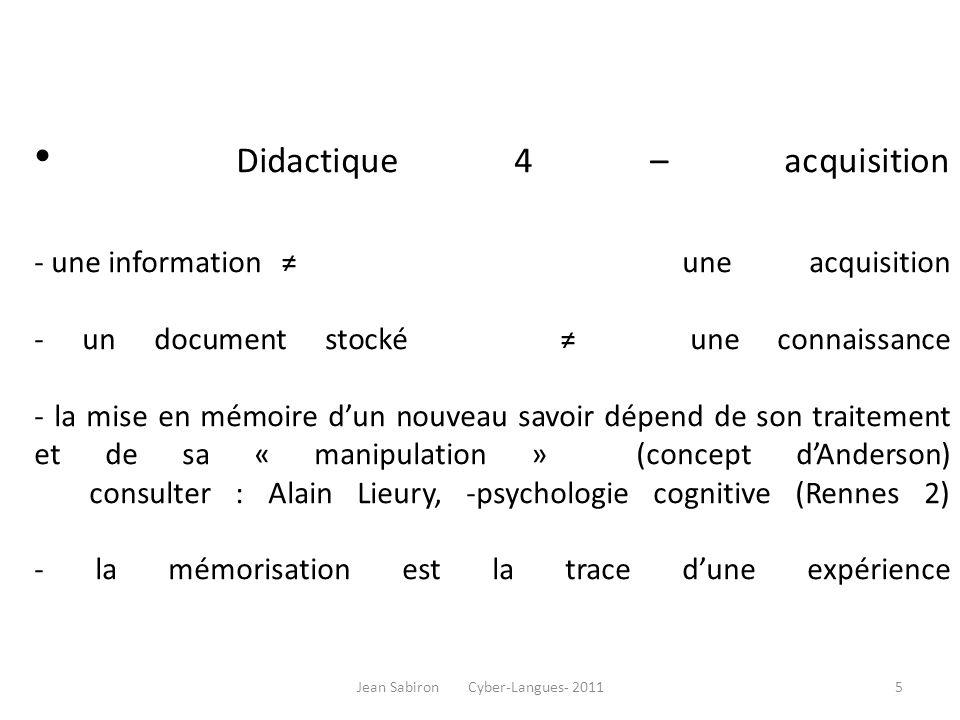 Didactique 5 : autonomisation