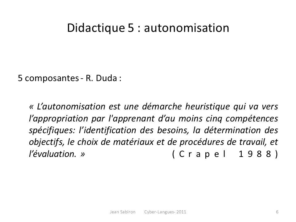 Didactique 6: le métacognitif