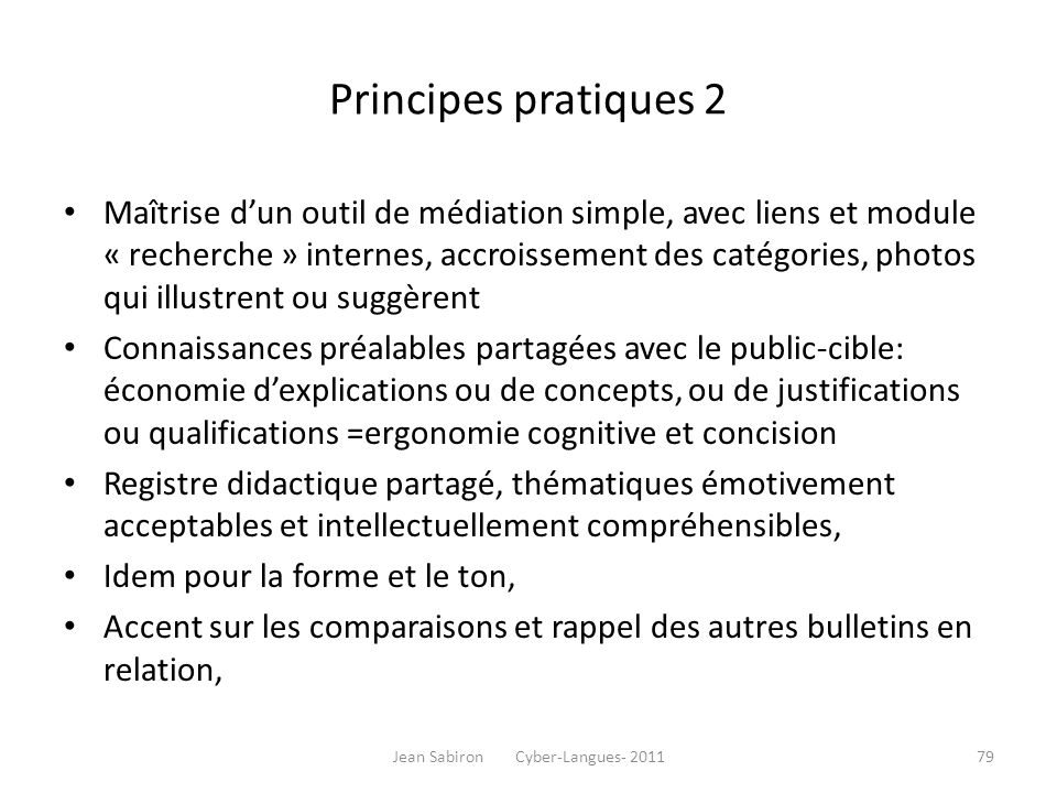 Jean Sabiron Cyber-Langues- 2011
