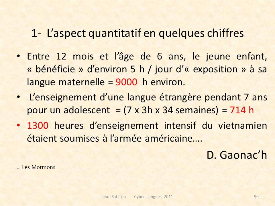 Données quantitatives en LEA L1 (2007)