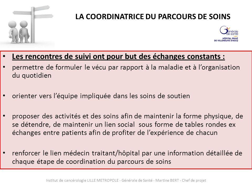 LA COORDINATRICE DU PARCOURS DE SOINS