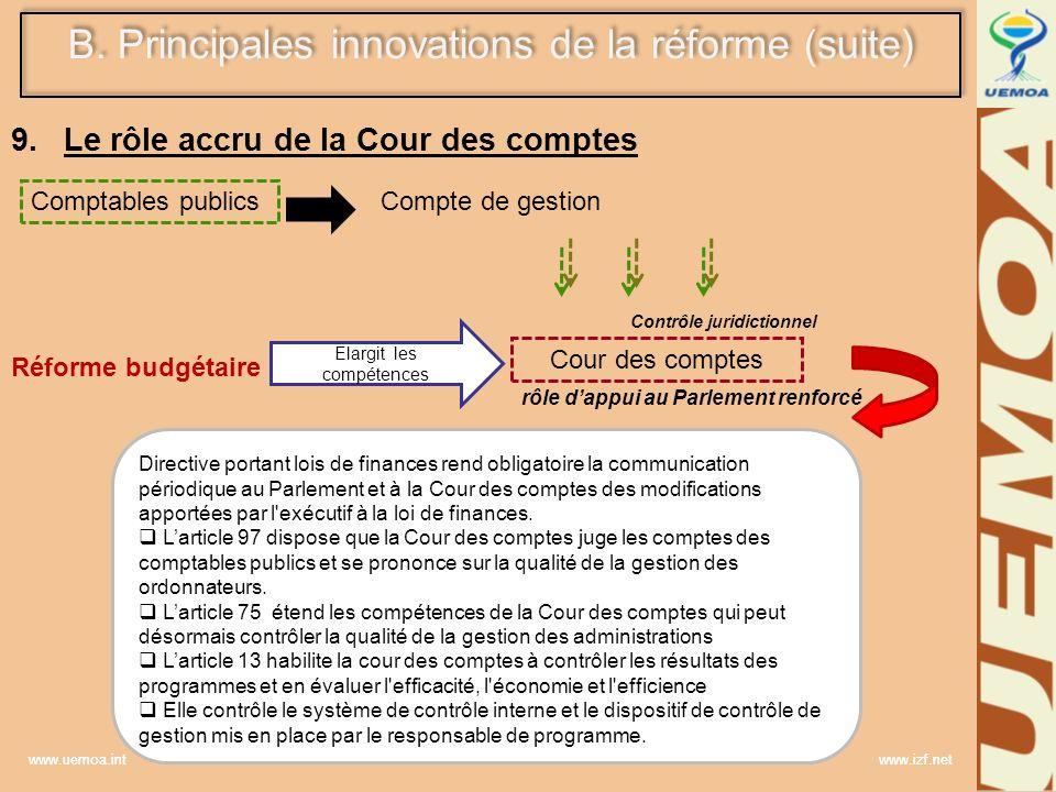 Le rôle accru de la Cour des comptes