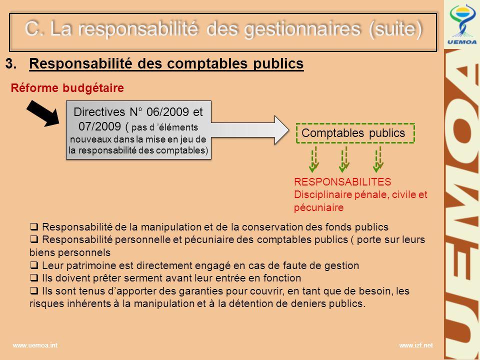 Responsabilité des comptables publics