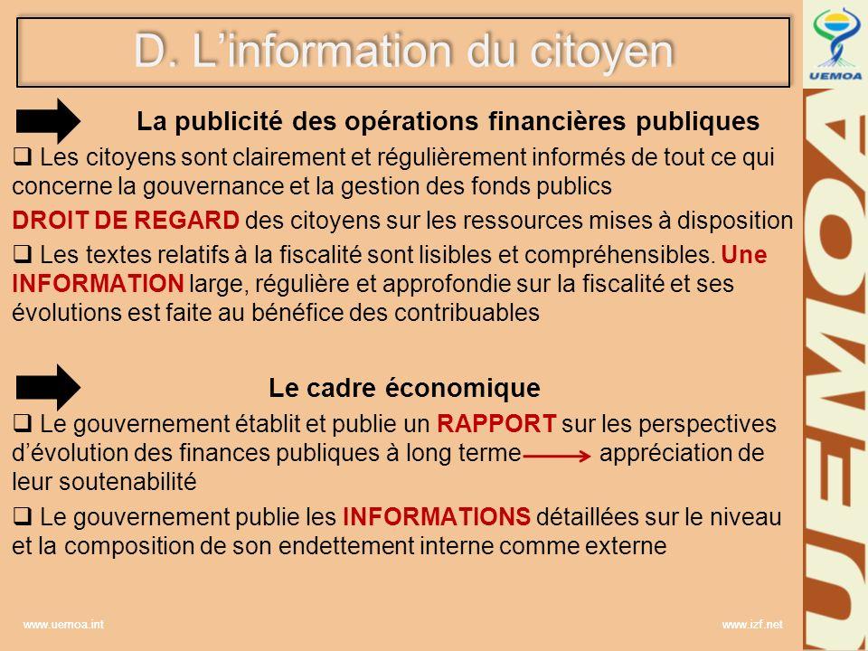 La publicité des opérations financières publiques
