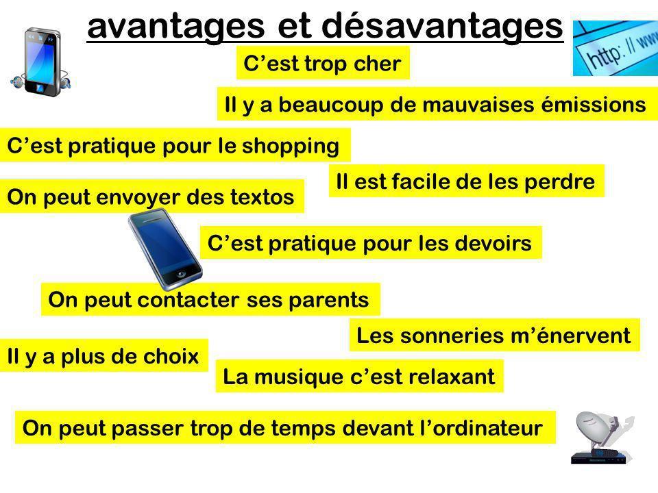 avantages et désavantages