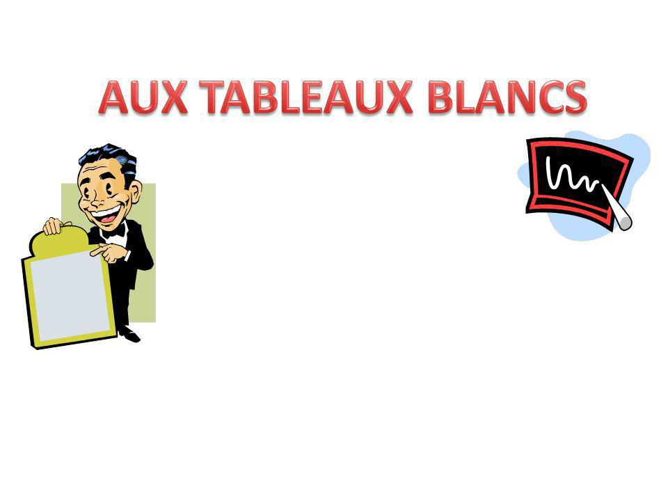 AUX TABLEAUX BLANCS Practise giving opinions with etre