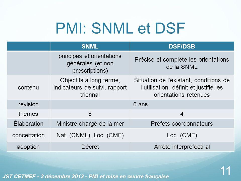 PMI: SNML et DSF SNML DSF/DSB