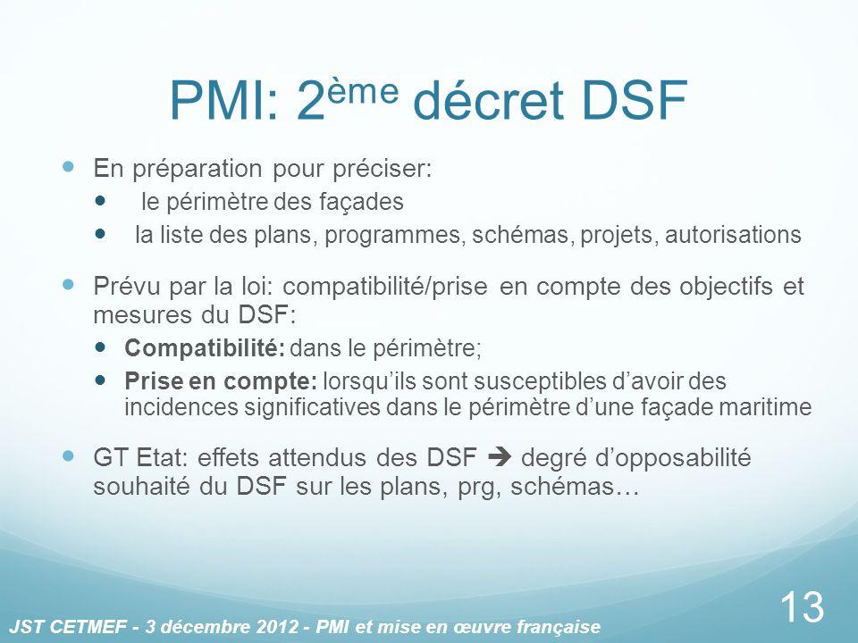 PMI: 2ème décret DSF En préparation pour préciser: