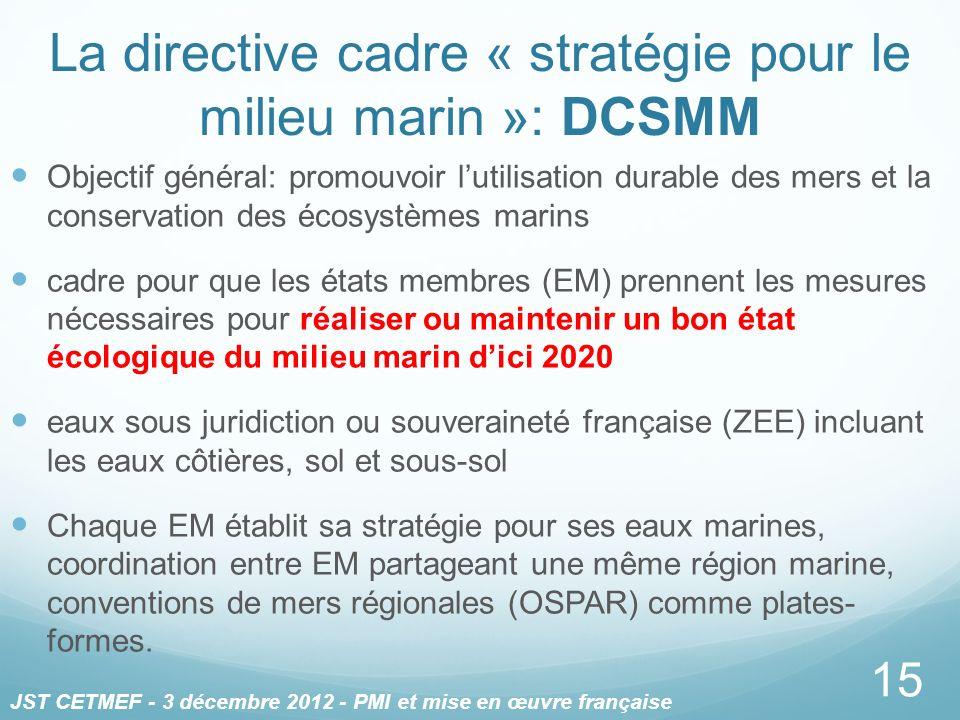 La directive cadre « stratégie pour le milieu marin »: DCSMM