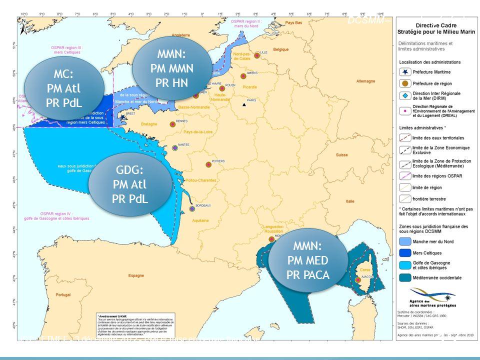 Les sous régions marines (SRM)
