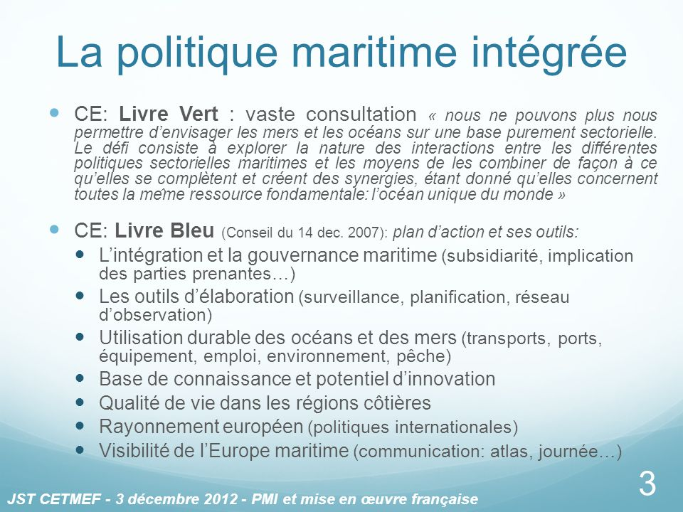 La politique maritime intégrée