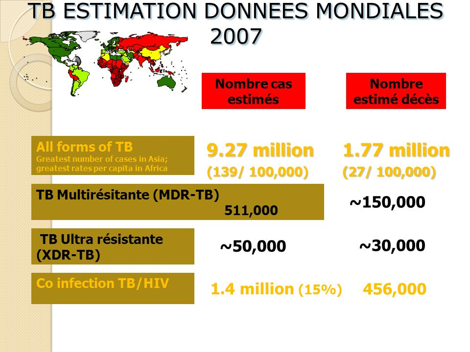 TB ESTIMATION DONNEES MONDIALES 2007