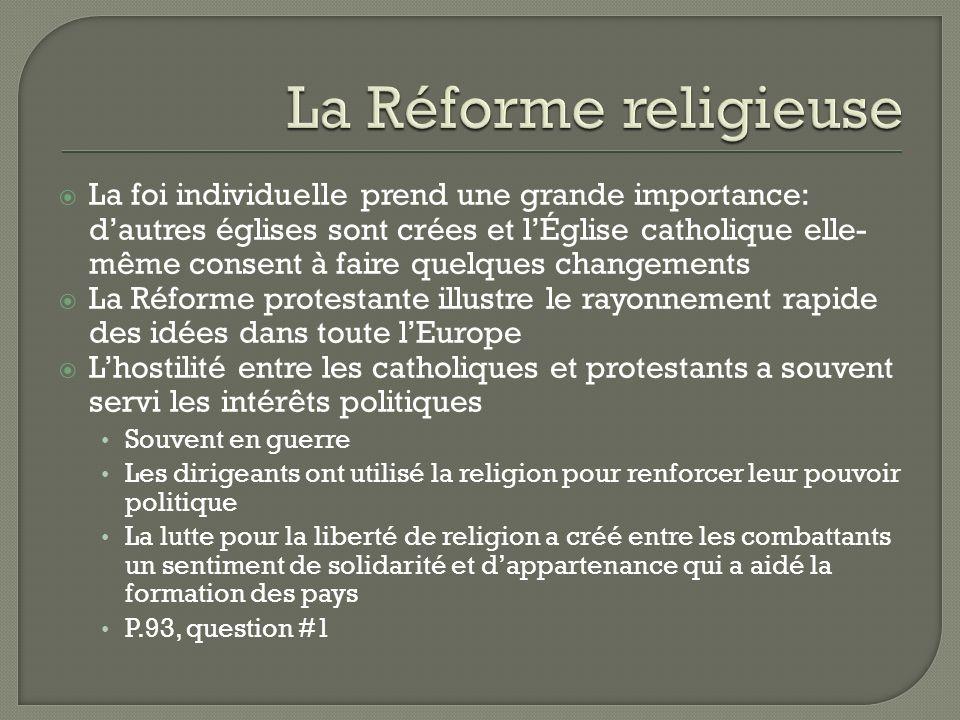 La Réforme religieuse