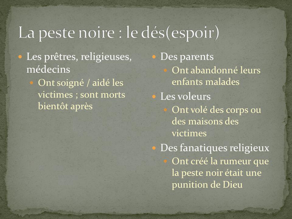 La peste noire : le dés(espoir)