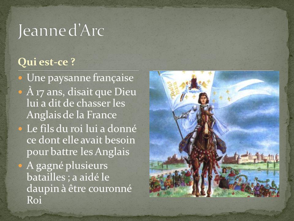 Jeanne d'Arc Qui est-ce Une paysanne française