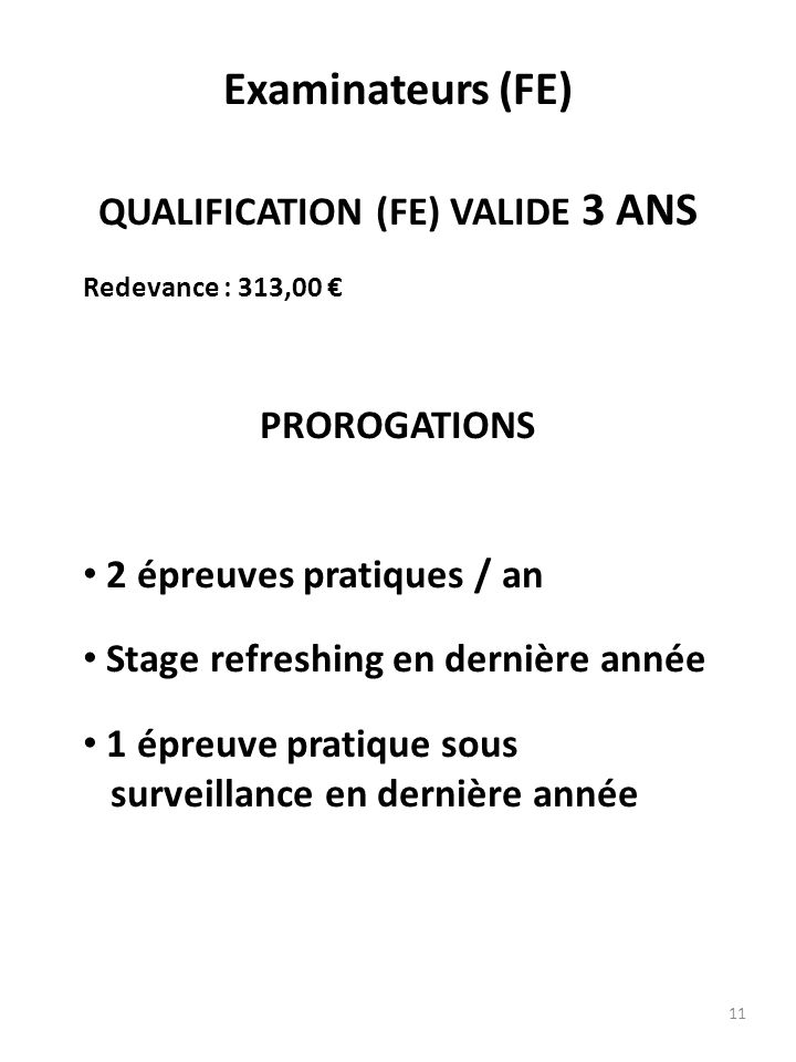 QUALIFICATION (FE) VALIDE 3 ANS