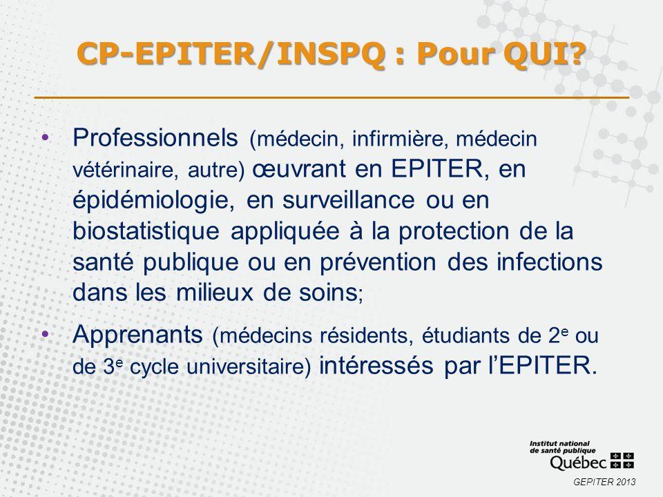 CP-EPITER/INSPQ : Pour QUI