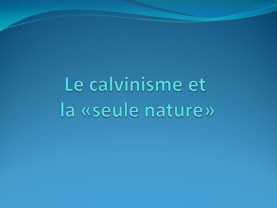 Le calvinisme et la «seule nature»