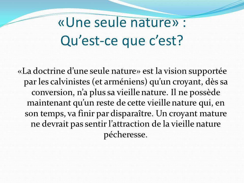 «Une seule nature» : Qu'est-ce que c'est