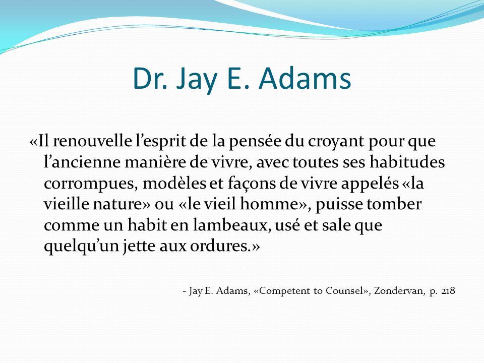 Dr. Jay E. Adams