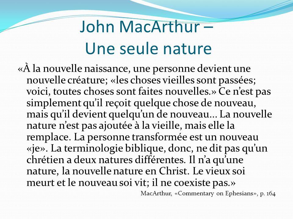 John MacArthur – Une seule nature