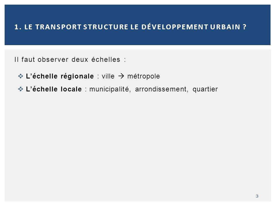 1. Le transport structure le développement urbain