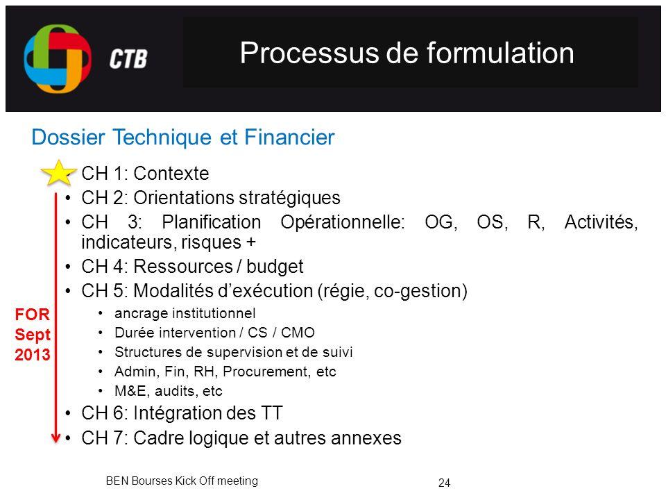 Processus de formulation