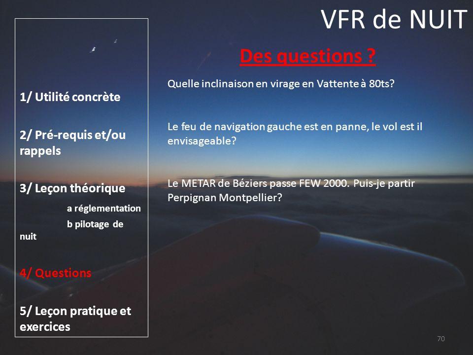 VFR de NUIT Des questions 1/ Utilité concrète