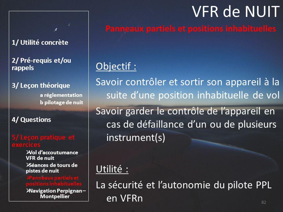 VFR de NUIT 1/ Utilité concrète. 2/ Pré-requis et/ou rappels. 3/ Leçon théorique. a réglementation.